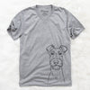 Connor the Irish Terrier - Unisex V-Neck Shirt