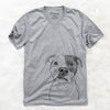 Dexter the American Pitbull Terrier - Unisex V-Neck Shirt