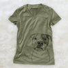 Dexter the Pitbull - Women's Modern Fit V-neck Shirt