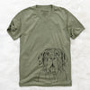 Dinah the Neapolitan Mastiff - Unisex V-Neck Shirt