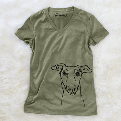 Diva the Greyhound - Women's Modern Fit V-neck Shirt