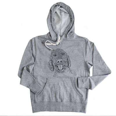 Dixie the Doodle - Grey French Terry Hooded Sweatshirt