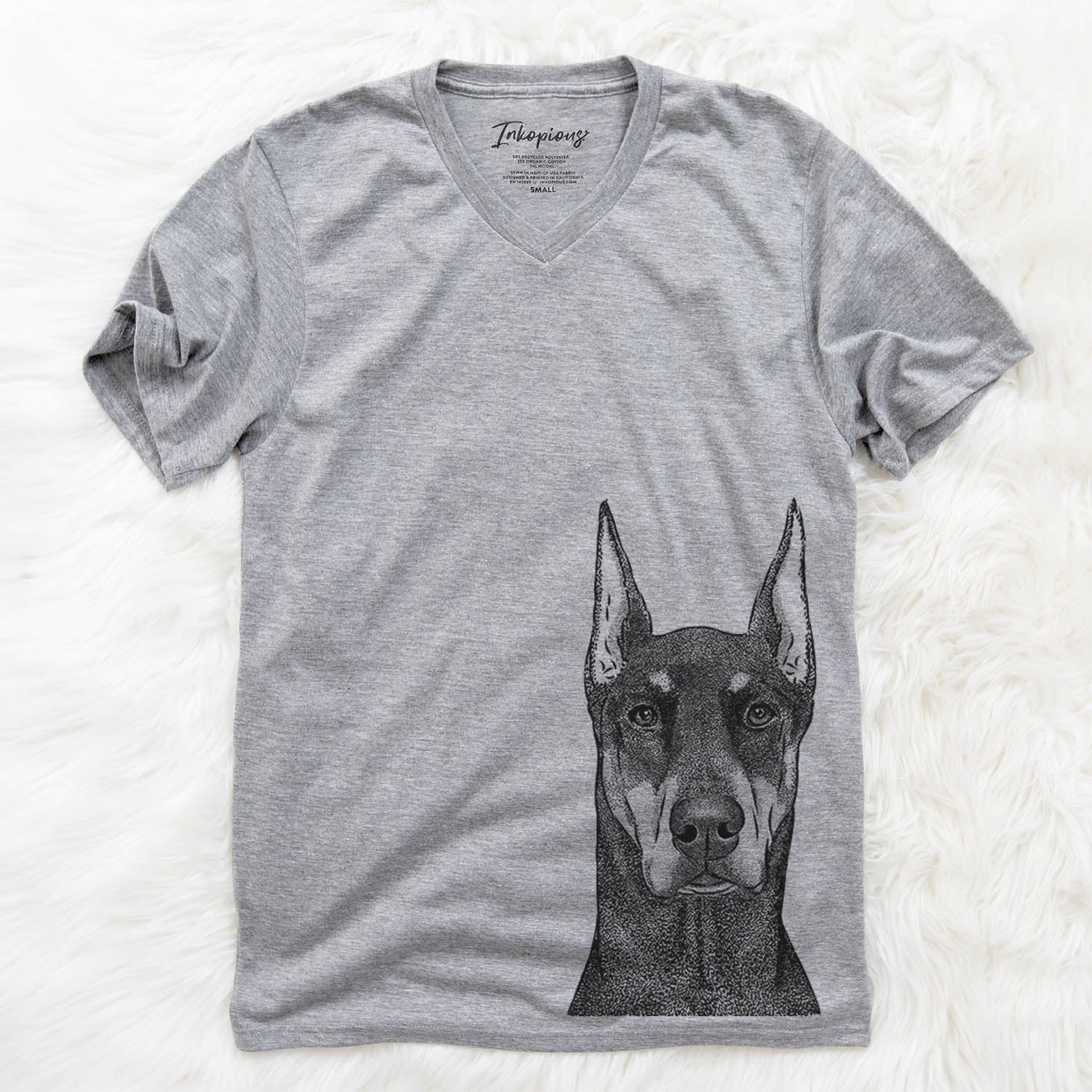 Drake the Doberman Pinscher - Unisex V-Neck Shirt
