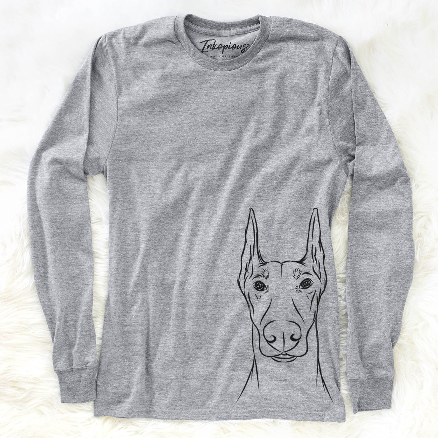 Duke the Doberman Pinscher - Long Sleeve Crewneck