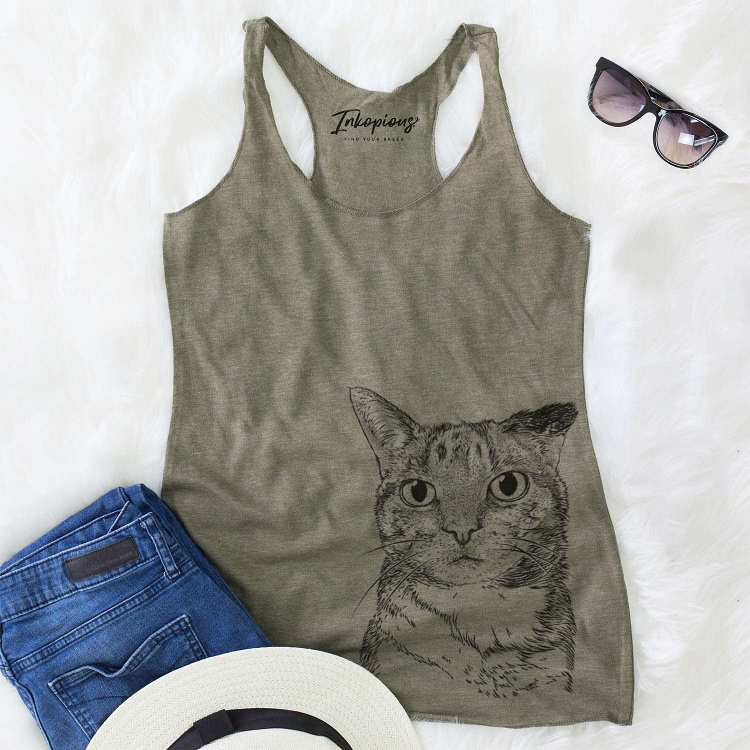 Eleanor the Domestic Shorthair - Racerback Tank Top