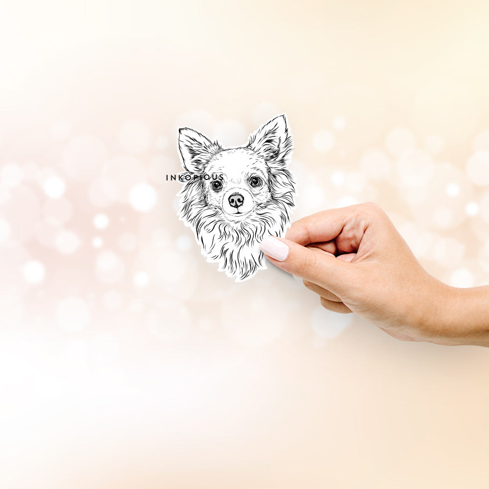Emma the Longhaired Chihuahua - Decal Sticker