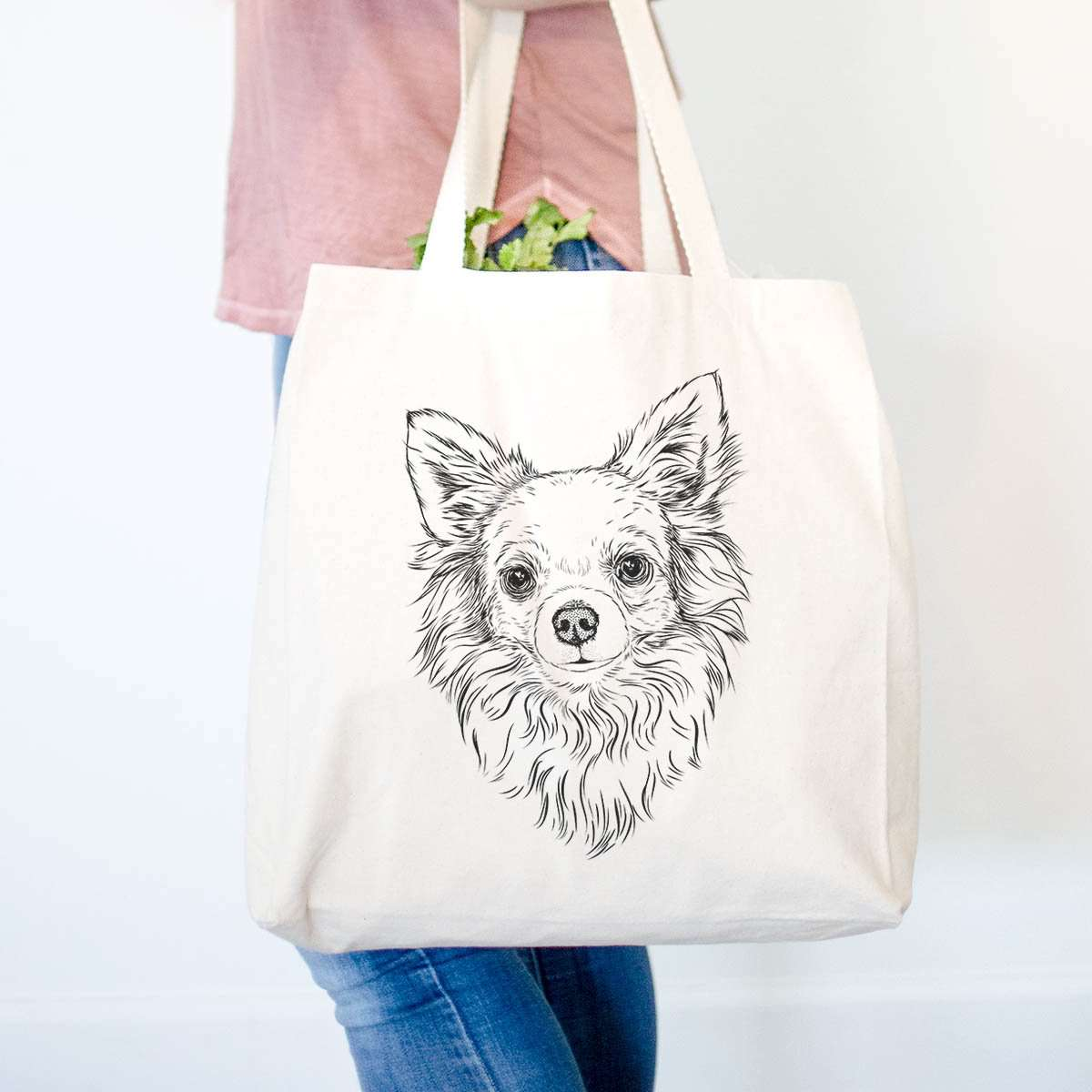 Emma the Longhaired Chihuahua - Tote Bag