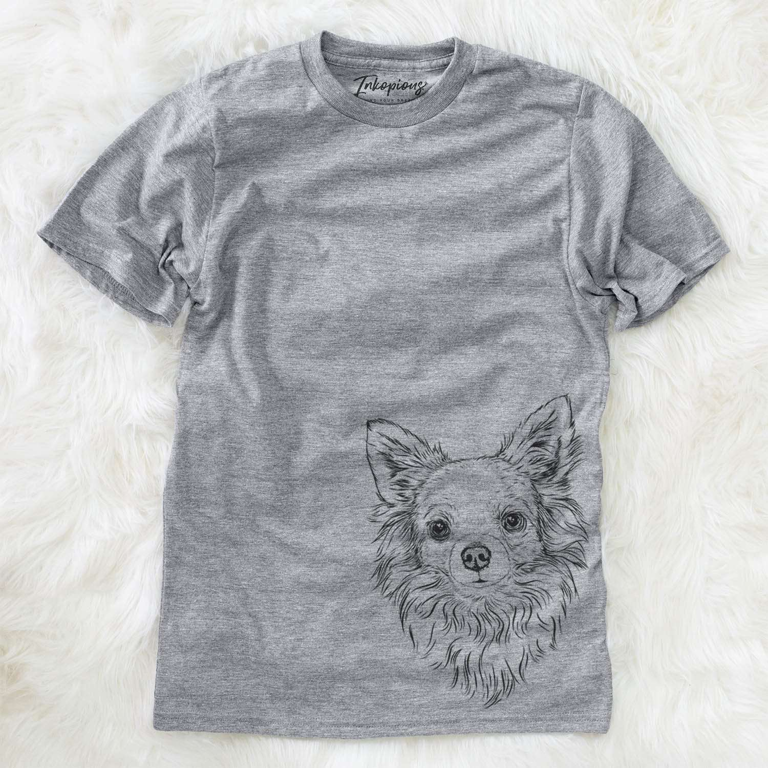 Emma the Longhaired Chihuahua - Unisex Crewneck