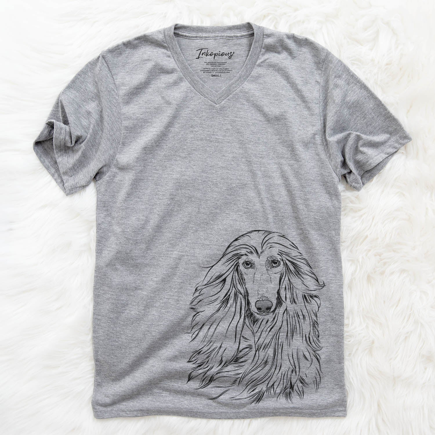 Fabio the Afghan Hound - Unisex V-Neck Shirt