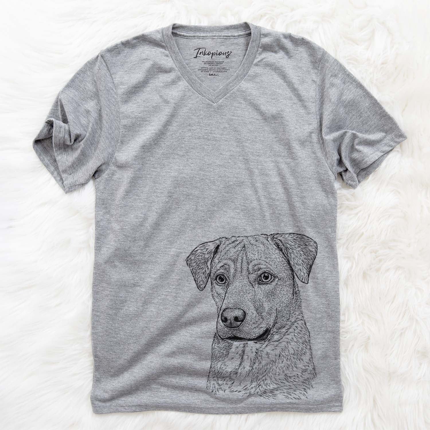 Feta the Mixed Breed - Unisex V-Neck Shirt