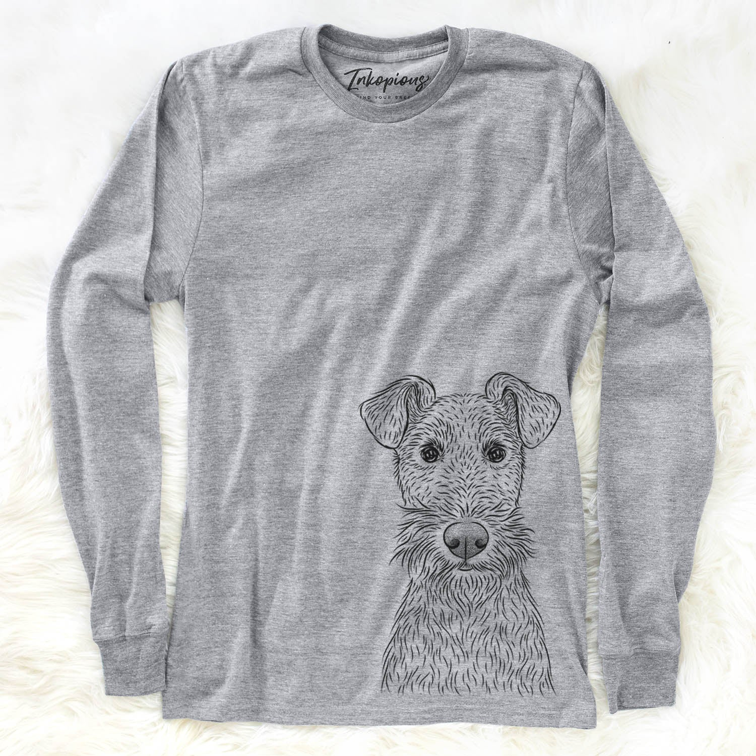 Fitz the Wire Fox Terrier - Long Sleeve Crewneck