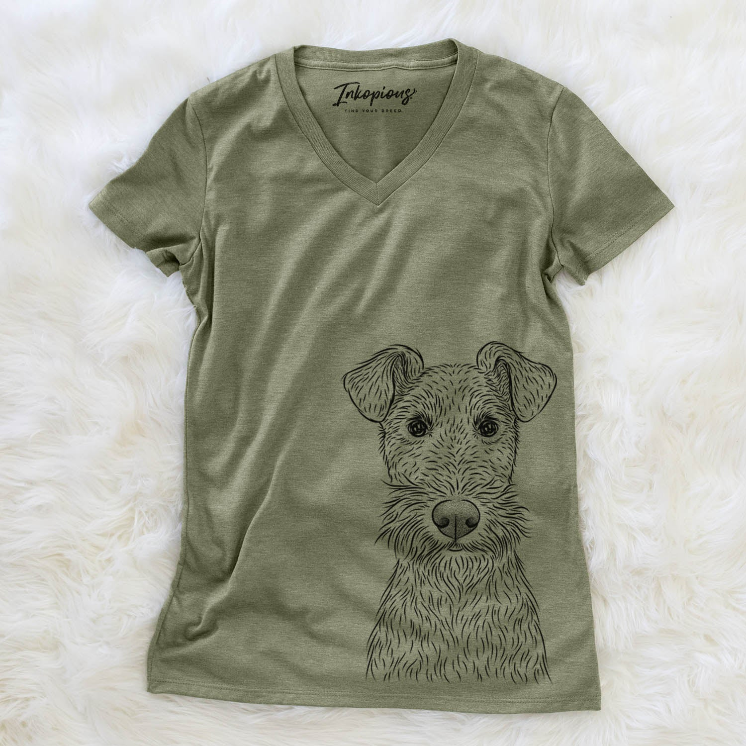 Fitz the Wire Fox Terrier - Women's Modern Fit V-neck Shirt