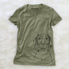 Flint the Weimaraner - Women's Modern Fit V-neck Shirt