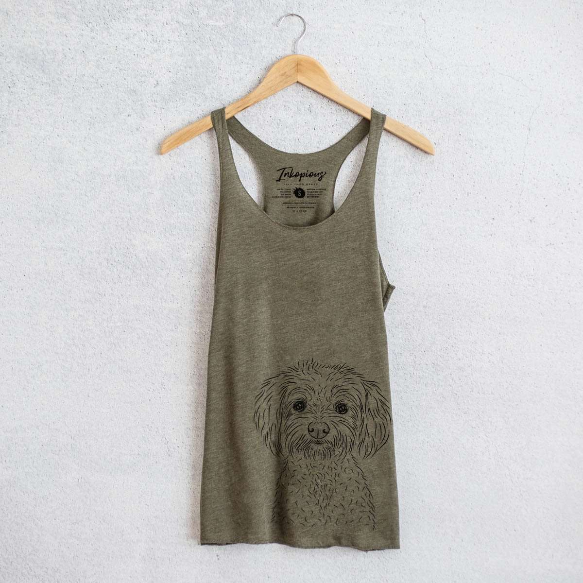 Francesca the Maltipoo - Tri-Blend Racerback Tank Top
