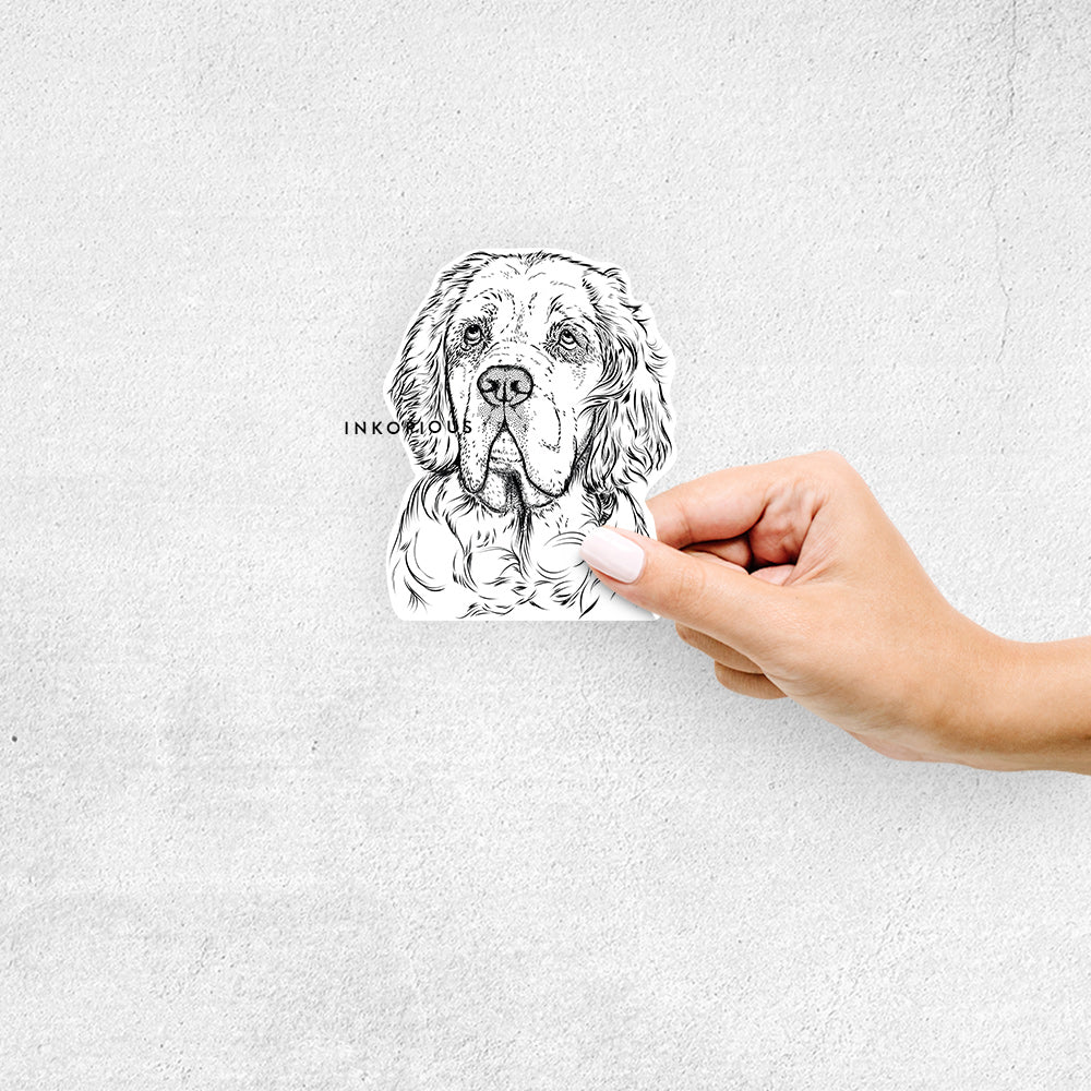 Gary the Clumber Spaniel - Decal Sticker