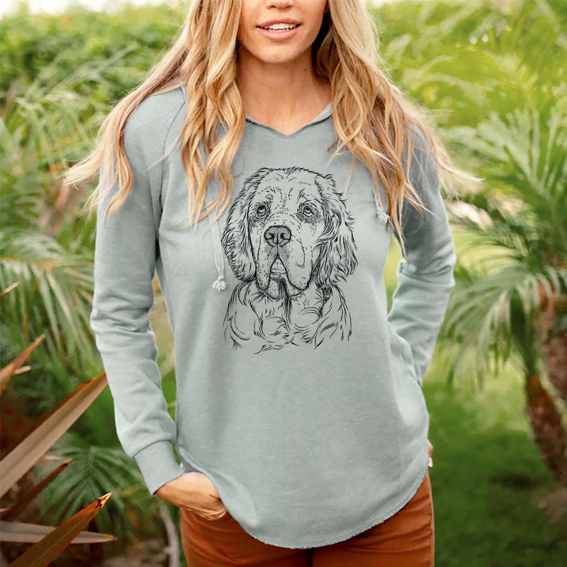 Gary the Clumber Spaniel - Cali Wave Hooded Sweatshirt