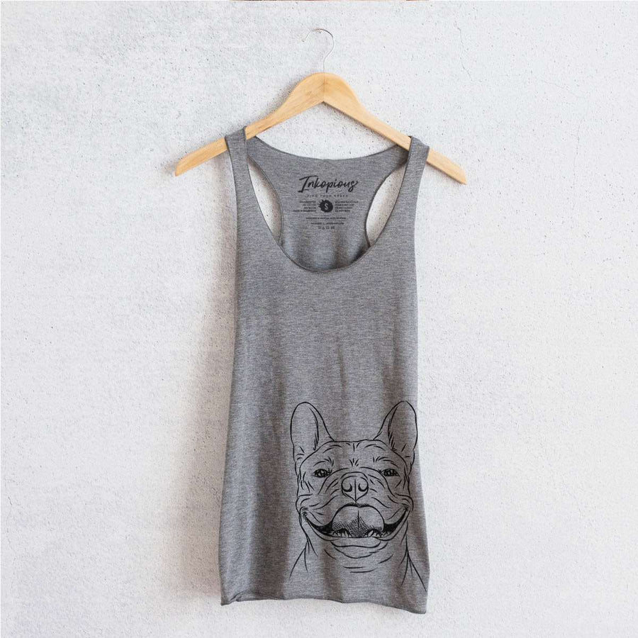 Gaston the French Bulldog - Tri-Blend Racerback Tank Top