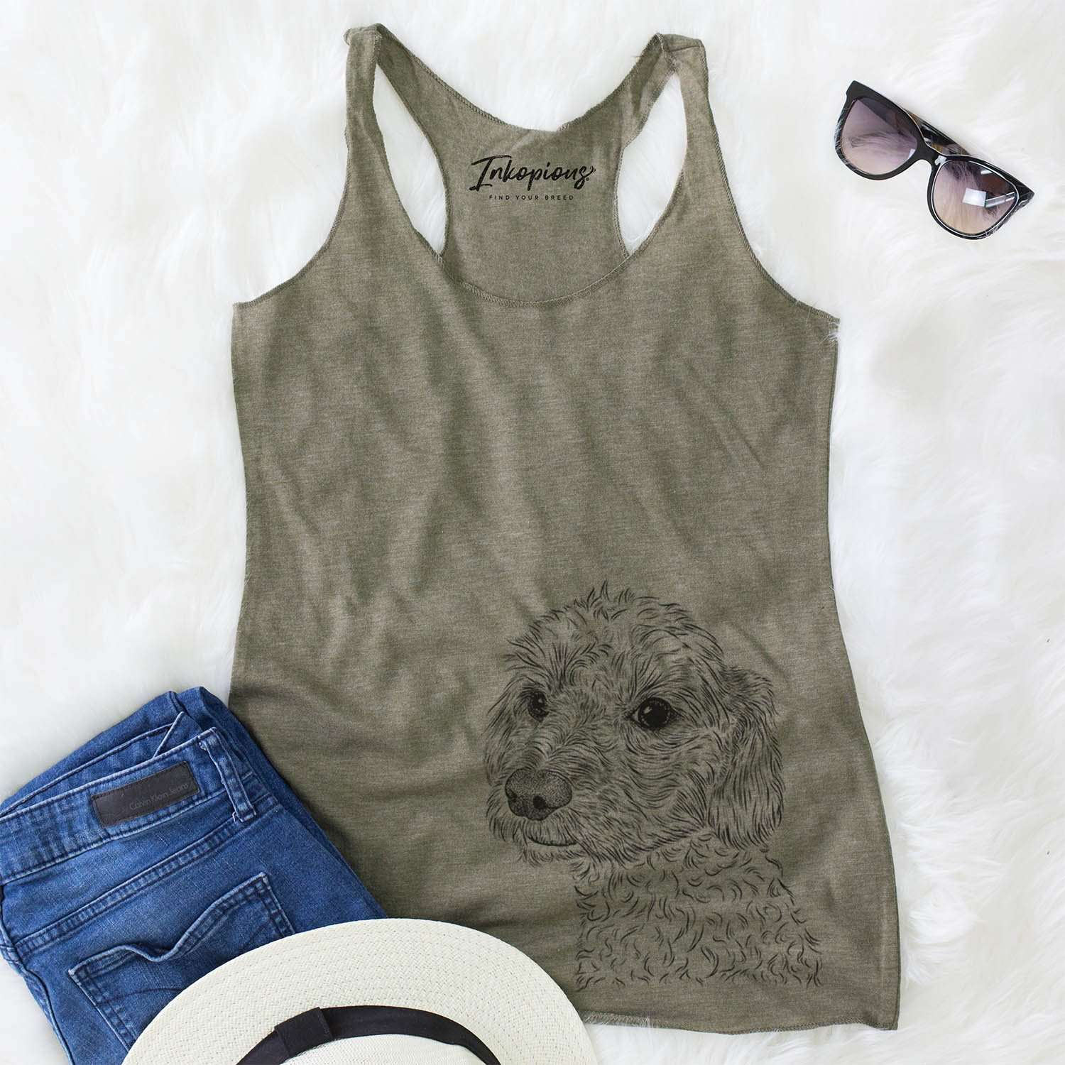 Georgie Boy the Mixed Breed - Racerback Tank Top