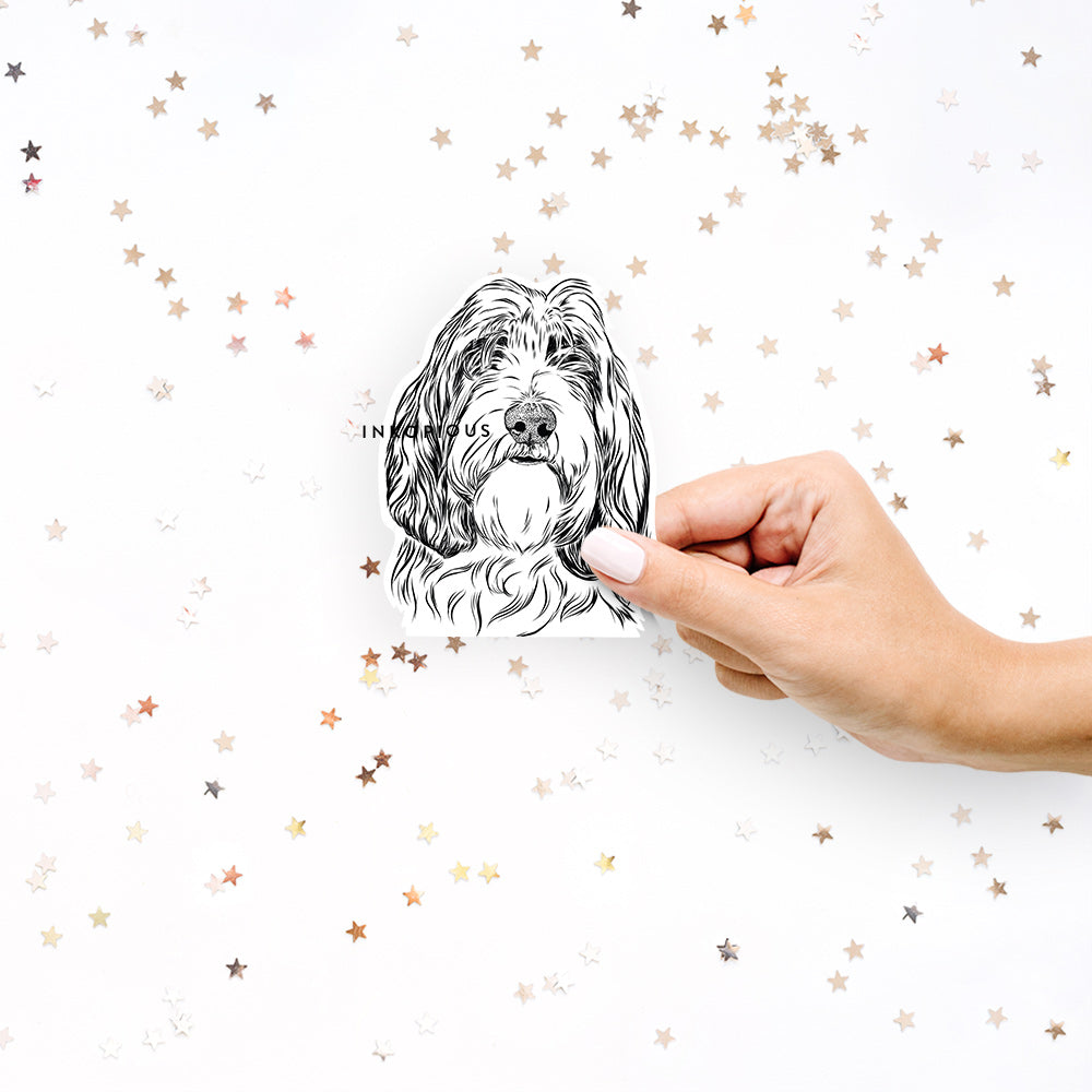 Gerard the Petit Basset Griffon Vendeen - Decal Sticker