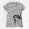 Gerti the Mixed Breed - Women's Modern Fit V-neck Shirt