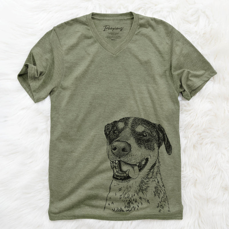 Gerti the Mixed Breed - Unisex V-Neck Shirt