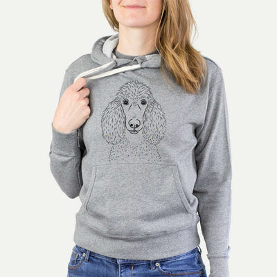 Giovanni the Poodle - Grey French Terry Hooded Sweatshirt