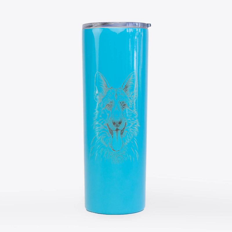Grace the German Shepherd - 20oz Skinny Tumbler