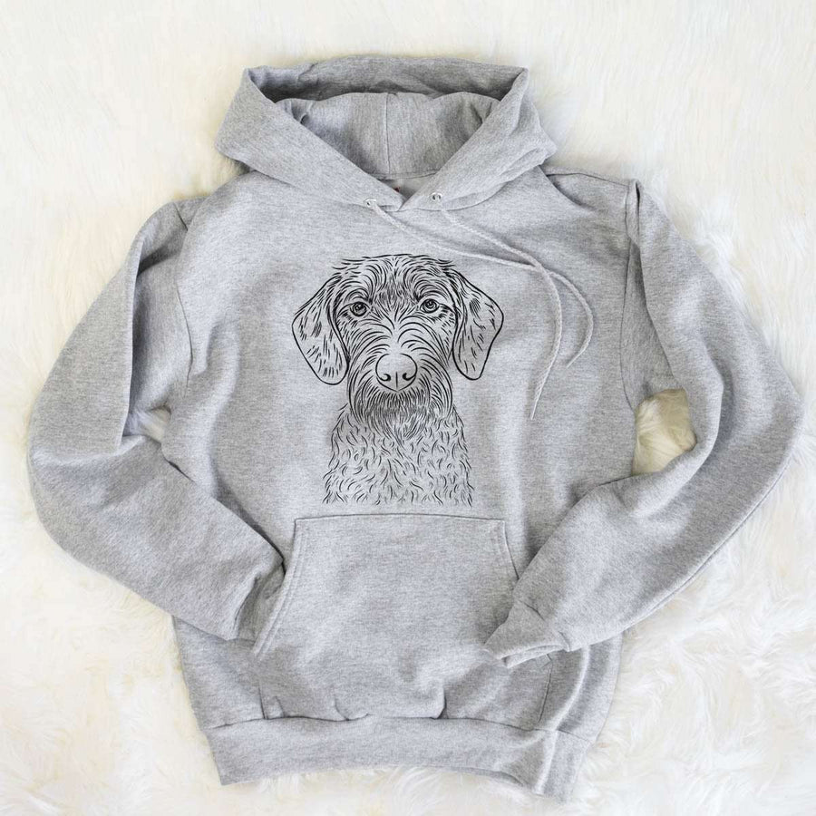Gus the German Wirehaired Pointer - Mens Hooded Sweatshirt