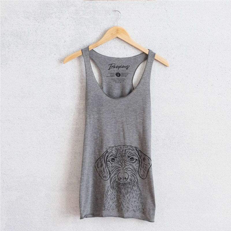Gus the German Wirehaired Pointer - Tri-Blend Racerback Tank Top