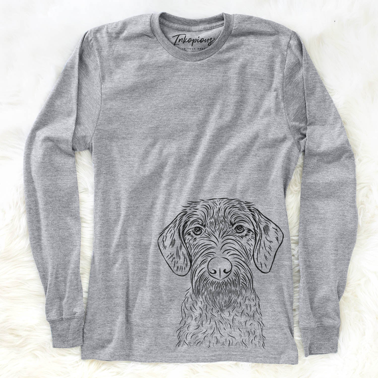 Gus the German Wirehaired Pointer - Long Sleeve Crewneck