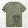 Gus the German Wirehaired Pointer - Unisex V-Neck Shirt