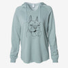 Happy Franco the French Bulldog - Cali Wave Hooded Sweatshirt