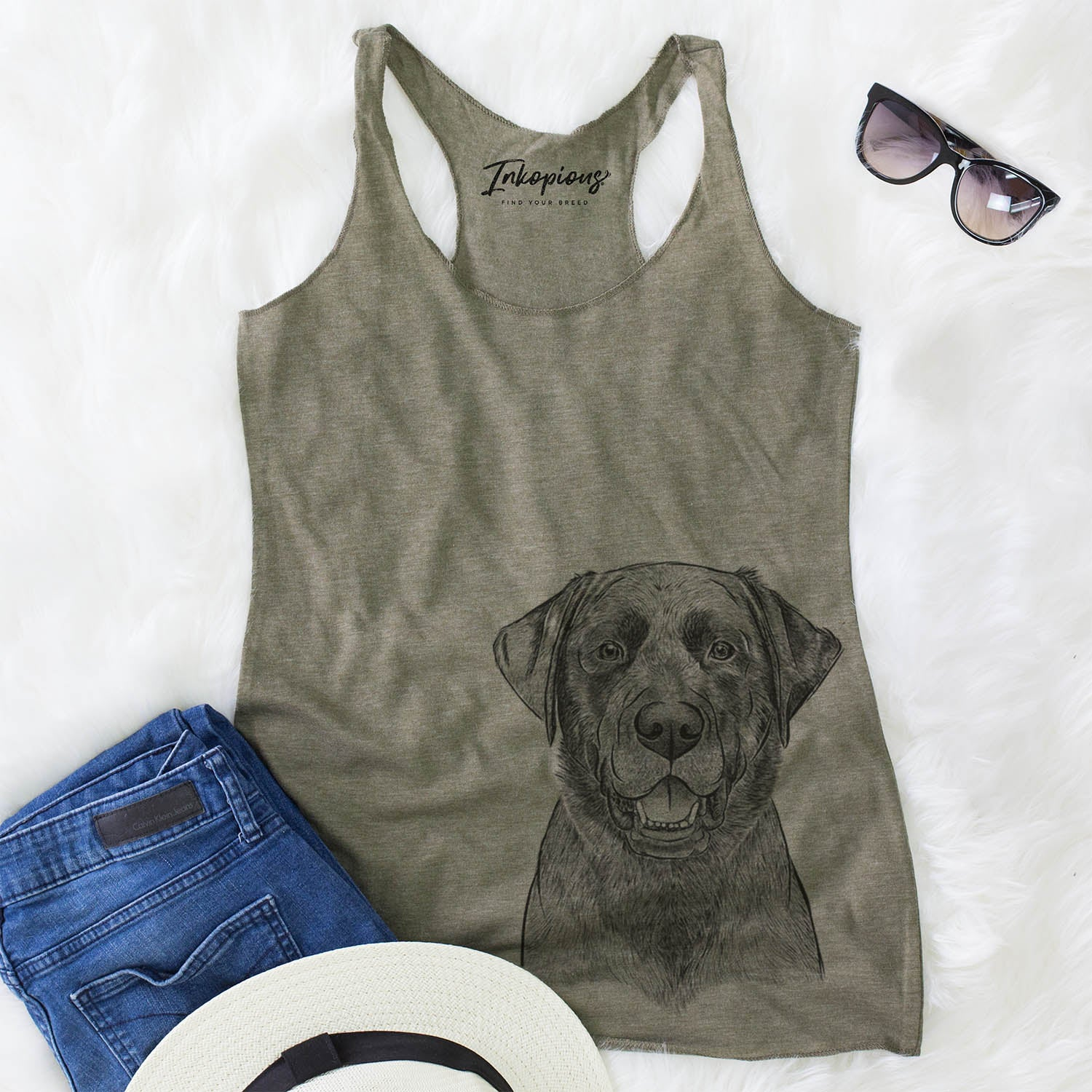 Heath the Black Lab - Racerback Tank Top