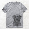 Heath the Black-Lab - Unisex V-Neck Shirt