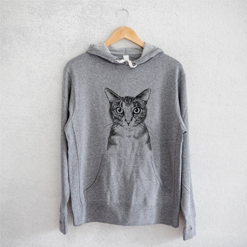 Hobbes the Tabby Cat - French Terry Hooded Sweatshirt