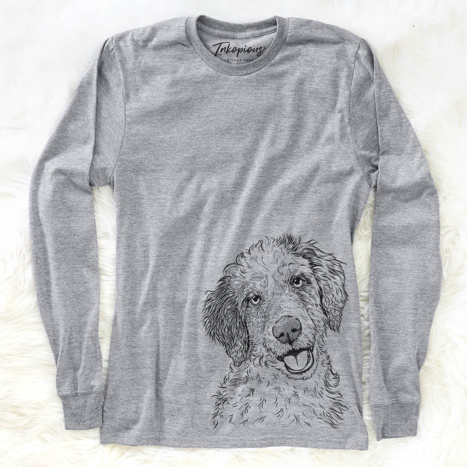 Hoge the Aussiedoodle - Long Sleeve Crewneck