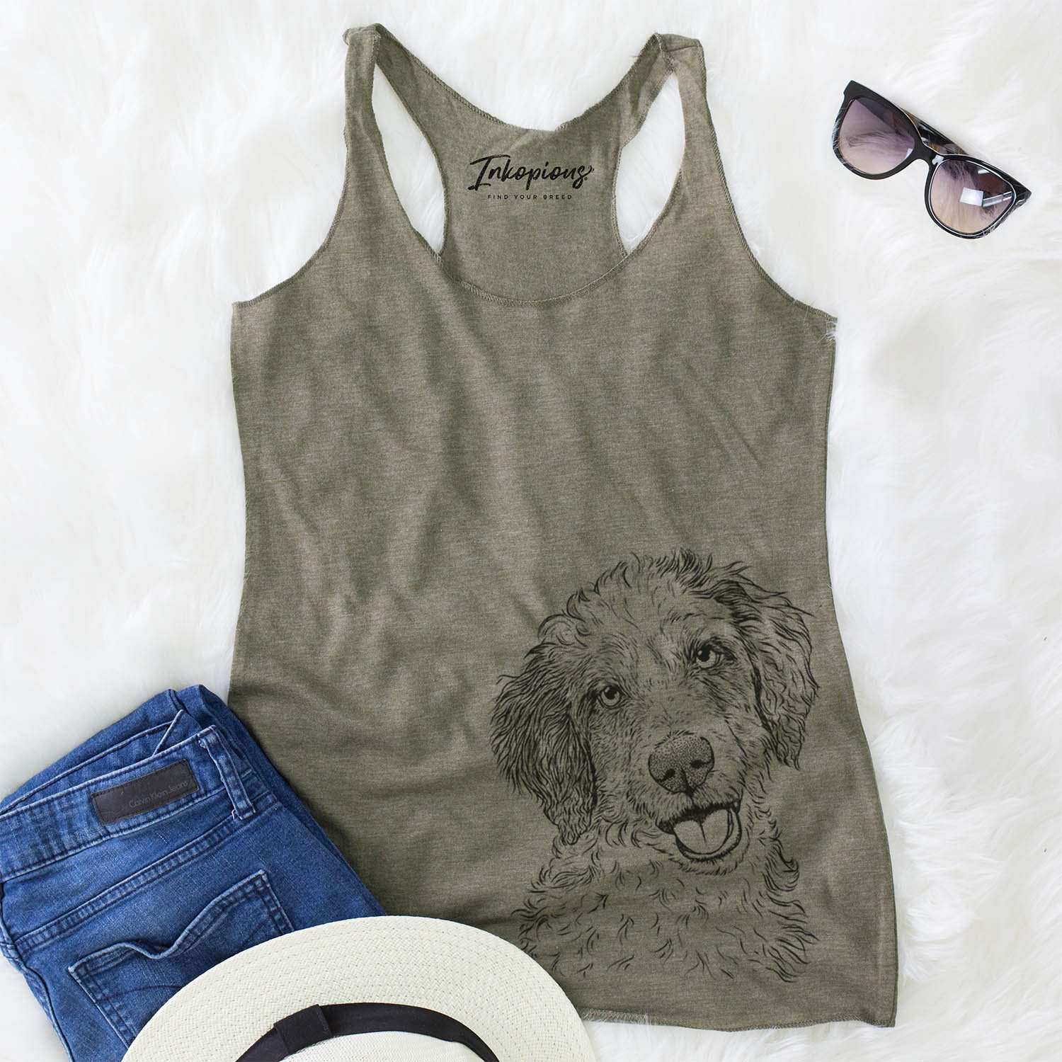 Hoge the Aussiedoodle - Racerback Tank Top