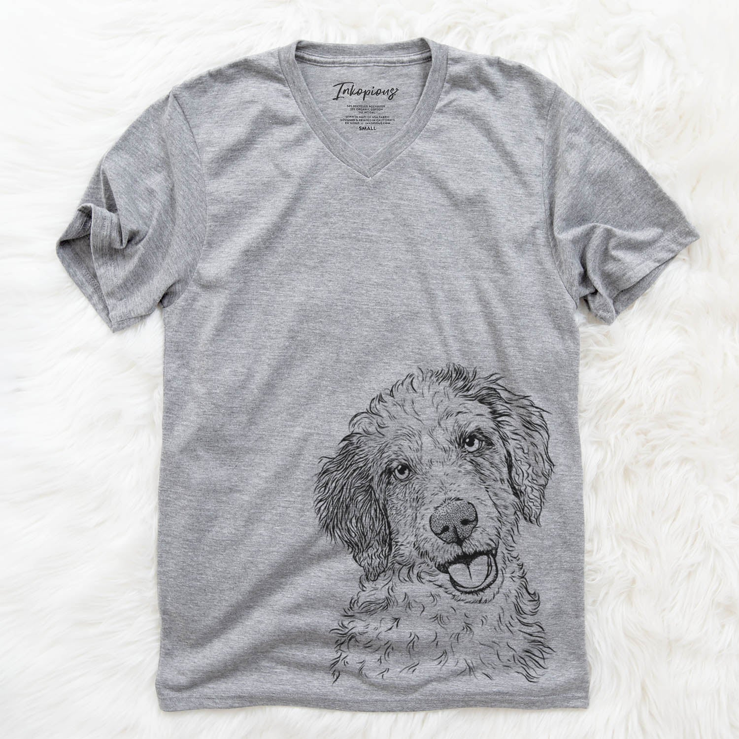 Hoge the Aussiedoodle - Unisex V-Neck Shirt