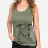 Honey the Lab/Pit Mix - Racerback Tank Top