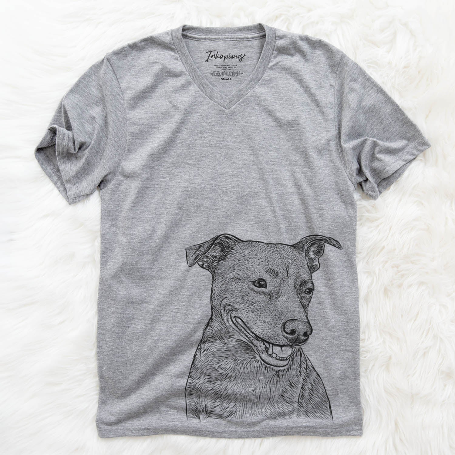 Honey the Lab/Pit Mix - Unisex V-Neck Shirt