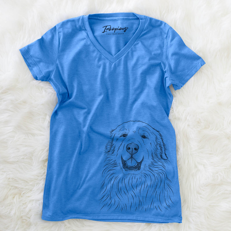 Horton the Great Pyrenees - Women's Modern Fit V-neck Shirt