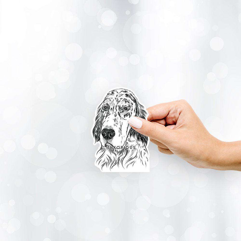 Hutch the English Setter - Decal Sticker