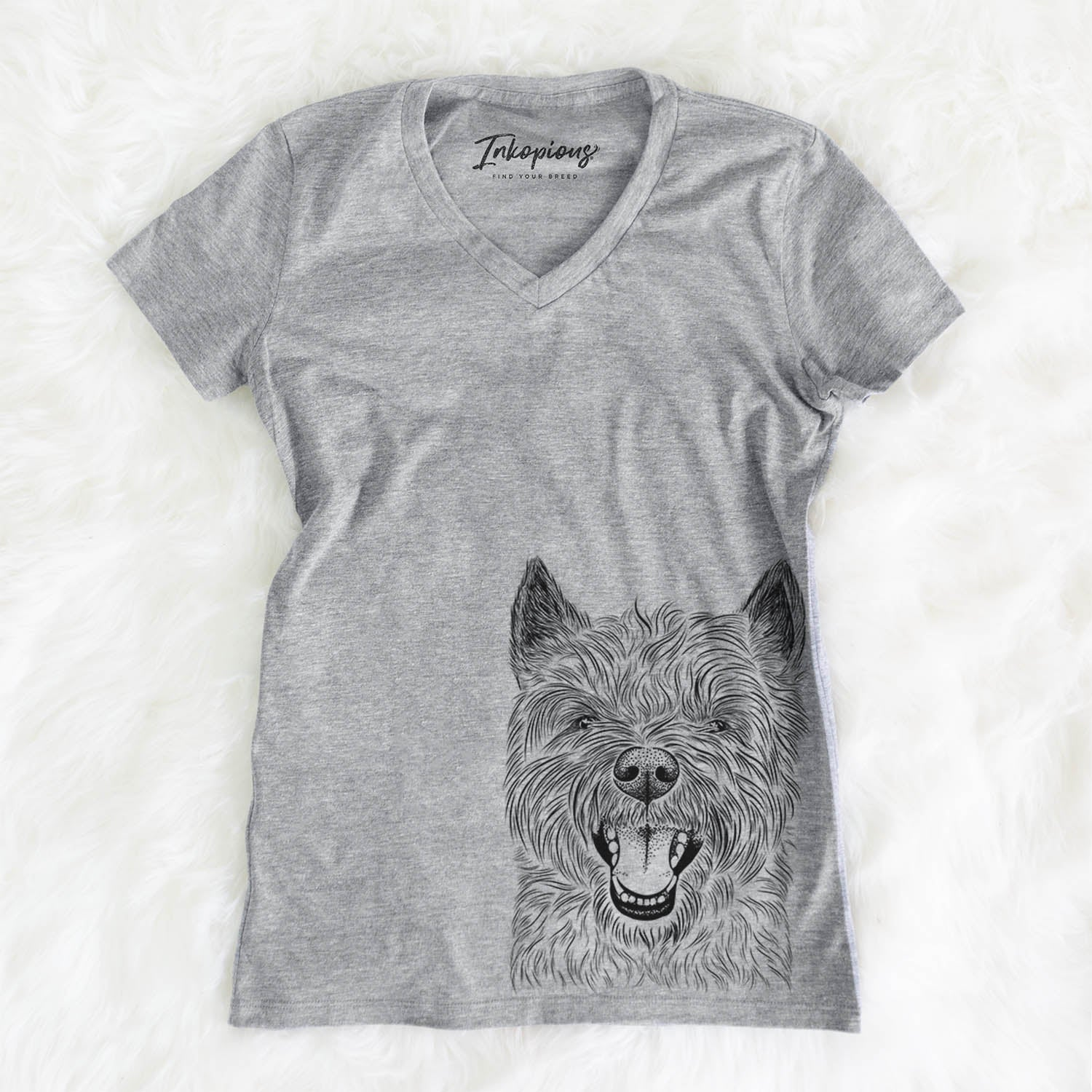 Jeff the Cairn Terrier - Women's Modern Fit V-neck Shirt