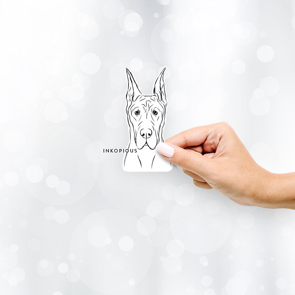 Jude the Great Dane - Decal Sticker