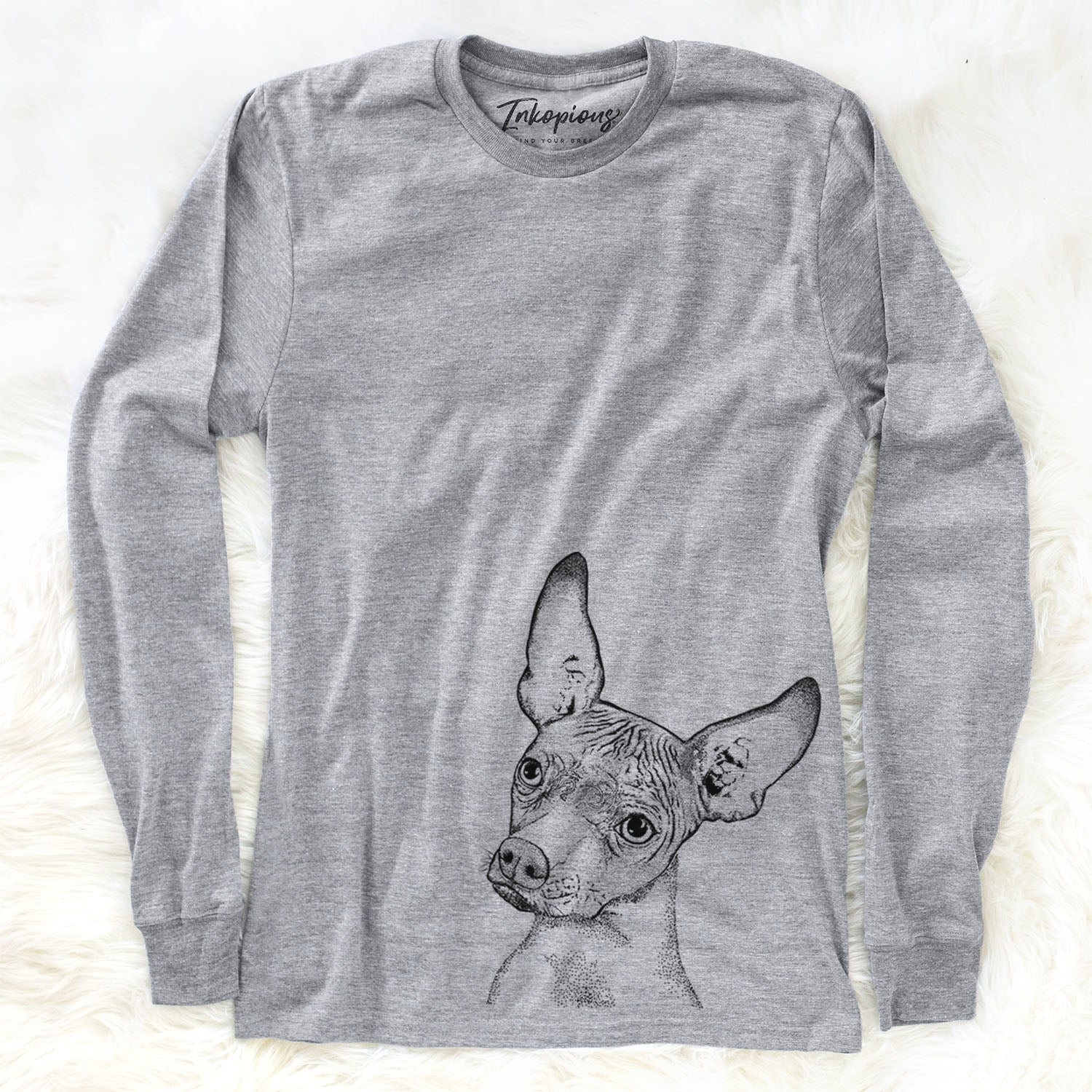Kahlo the Xoloitzcuintli - Long Sleeve Crewneck