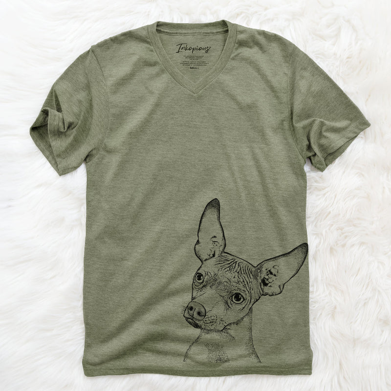 Kahlo the Xoloitzcuintli - Unisex V-Neck Shirt