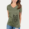Kai the Keeshond - Women's Modern Fit V-neck Shirt
