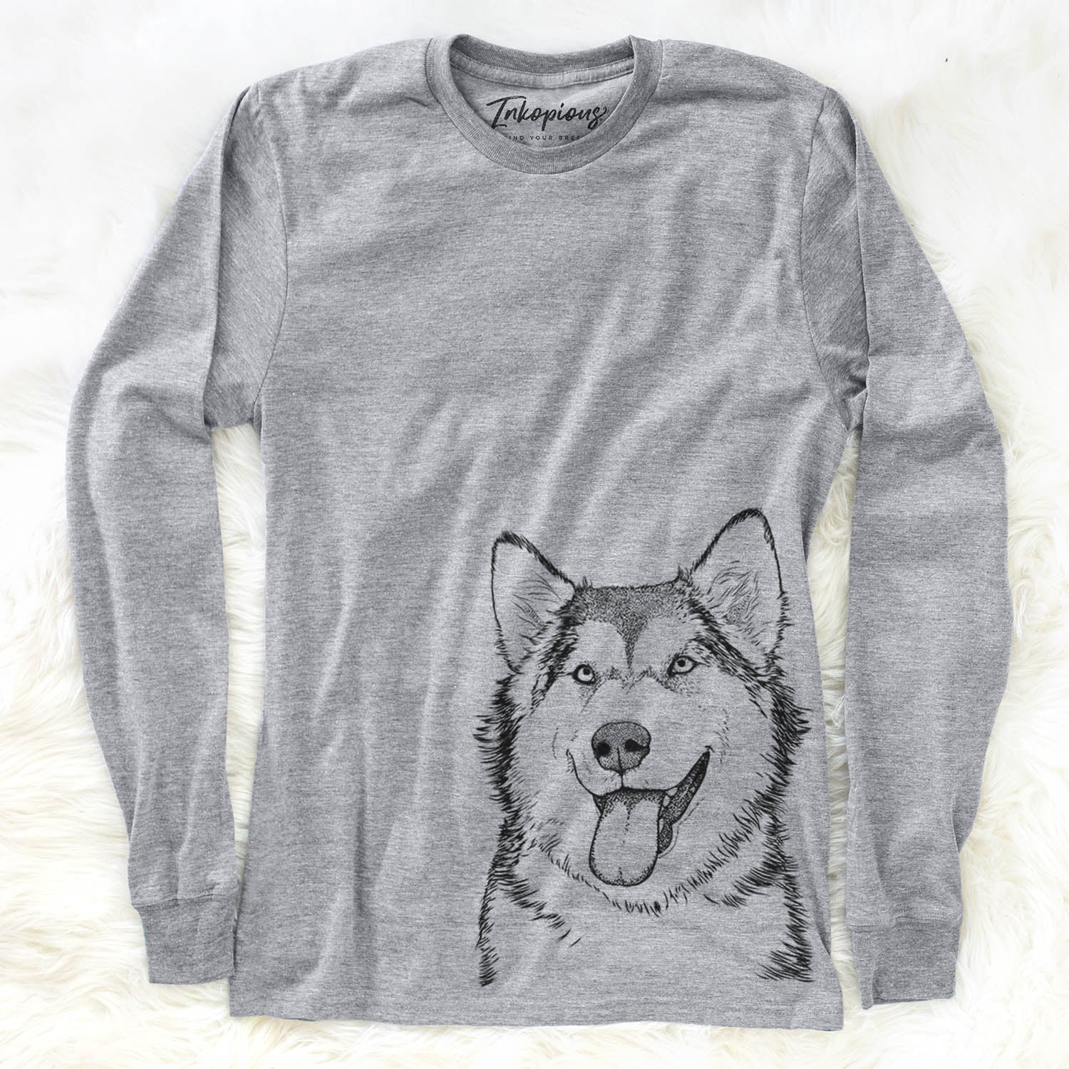Kaskae the Malamute - Long Sleeve Crewneck
