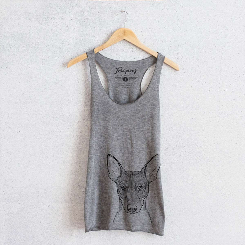 Knox the Rat Terrier - Tri-Blend Racerback Tank Top