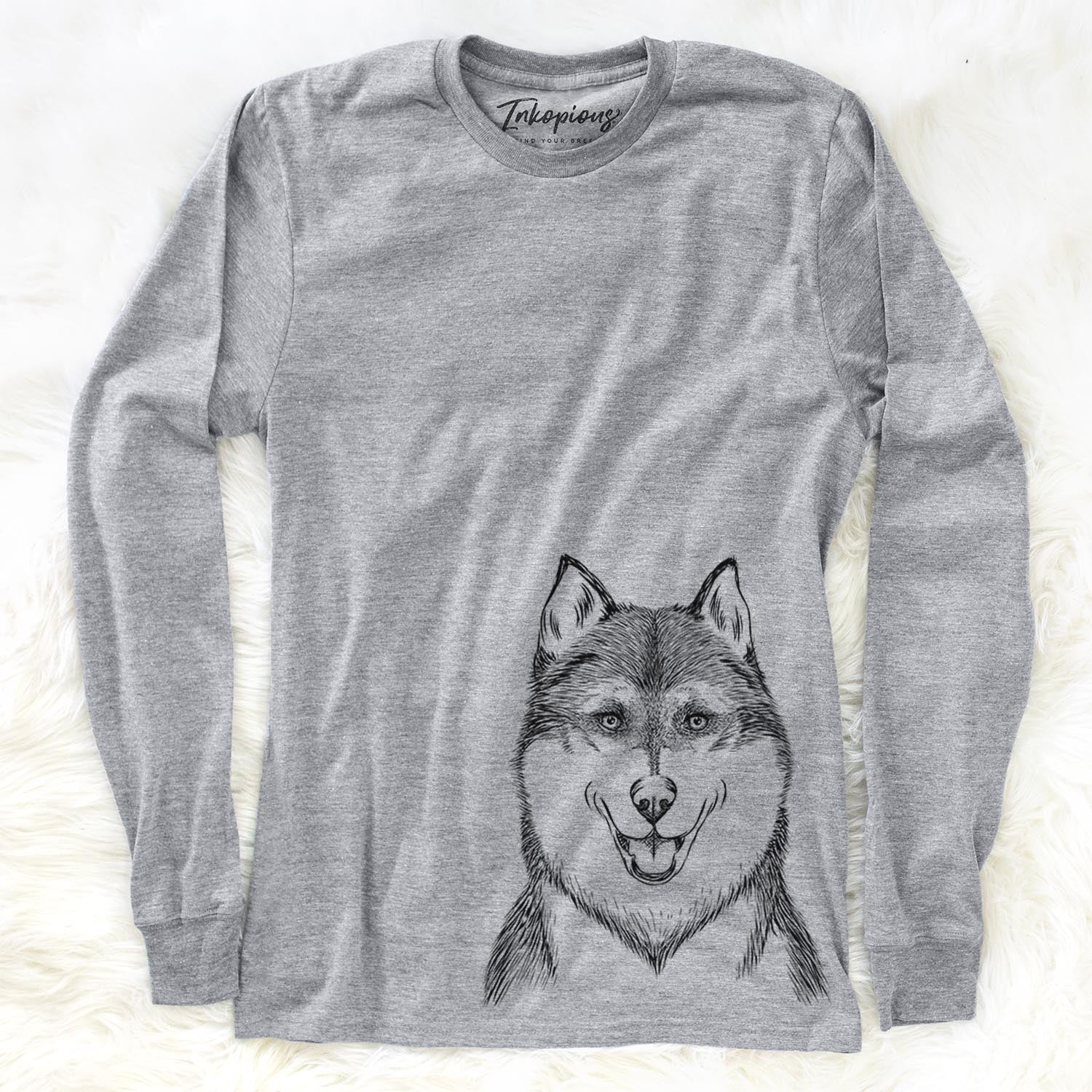 Koda the Siberian Husky - Long Sleeve Crewneck